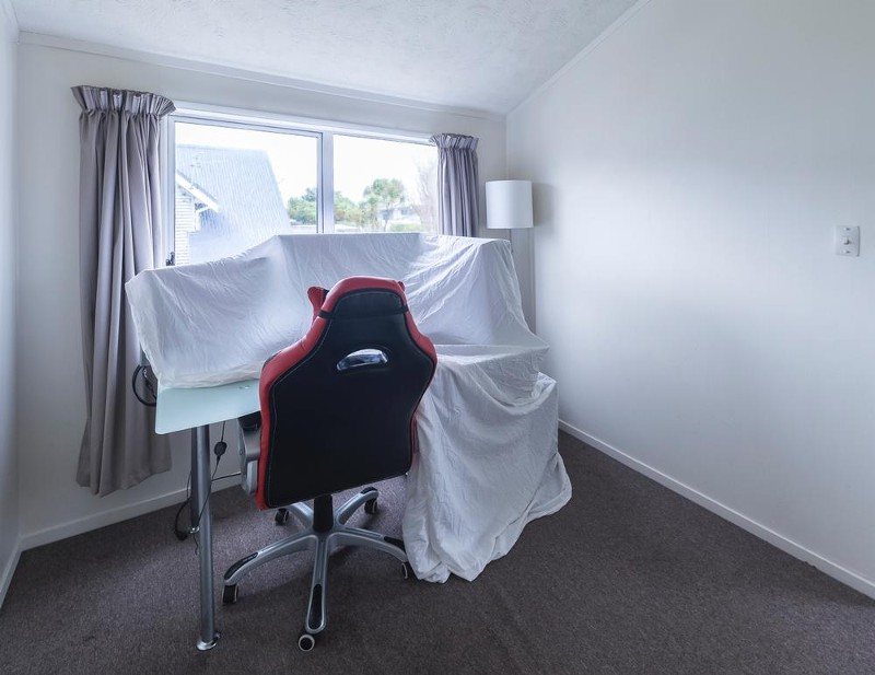 2nd Double Bedroom with Built in Wardrobe (Upstairs Right) - 4/15 Bolton Street, Petone - Townhouse for Sale in Petone